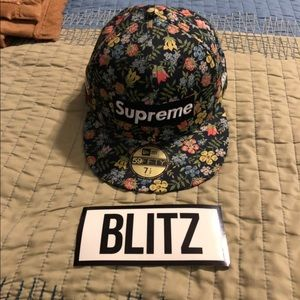 Supreme Floral New Era Hat